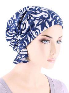 Blue White Swirl