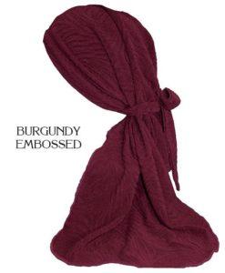 Burgundy Embossed